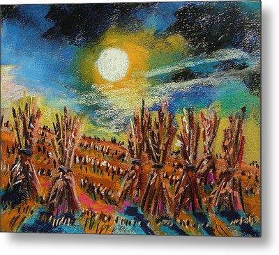 After Harvest Night Metal Print by John Williams