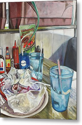 After Lunch Metal Print by Stephanie Come-Ryker