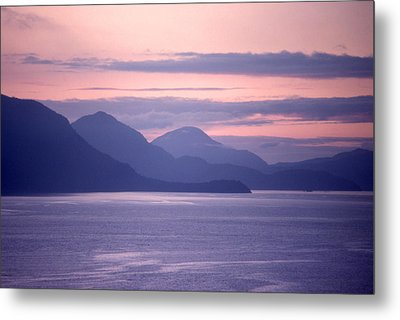 After Sunset Mountains 62 Metal Print