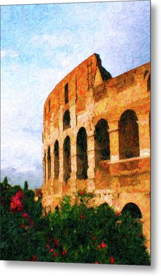 Afternoon In Rome Metal Print by Rob Tullis