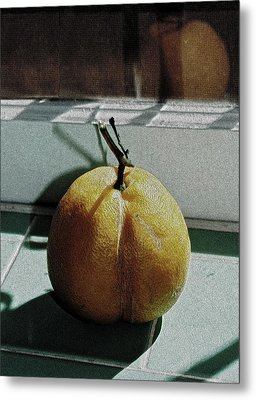 Afternoon Lemon Metal Print by Gwyn Newcombe