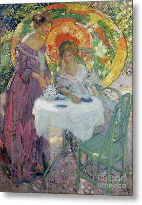 Afternoon Tea Metal Print by Richard Edward Miller