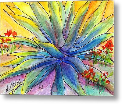 Agave Metal Print by Nancy Matus