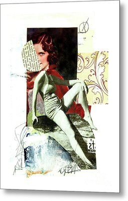 Metal Print featuring the mixed media Ageless by Elena Nosyreva
