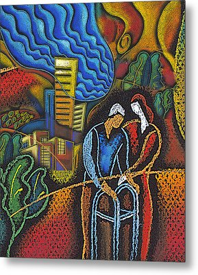 Aging And Healthcare Metal Print by Leon Zernitsky