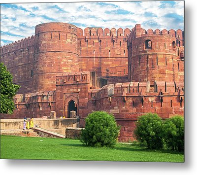Agra Fort Keep Gate Metal Print by Nila Newsom
