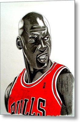 Air Jordan Raging Bull Drawing Metal Print by Keeyonardo