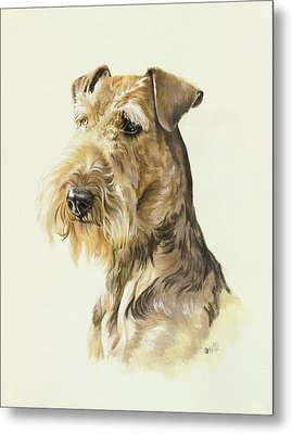 Airedale Metal Print by Barbara Keith