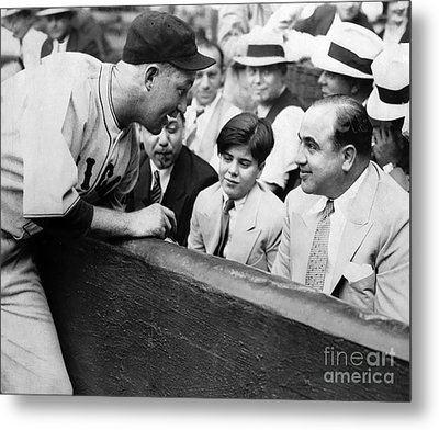 Al Capone At The Cubs Game Metal Print by Jon Neidert