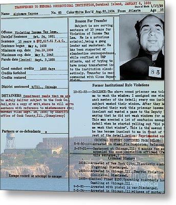 Al Capone Transfer Record Alcatraz Island To Terminal Island 20170518 Square V2 Metal Print