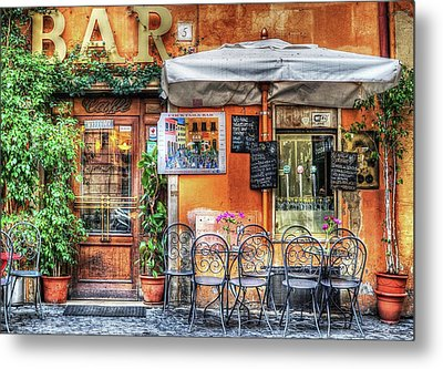 Metal Print featuring the photograph Al Fresco Dining by Bellesouth Studio