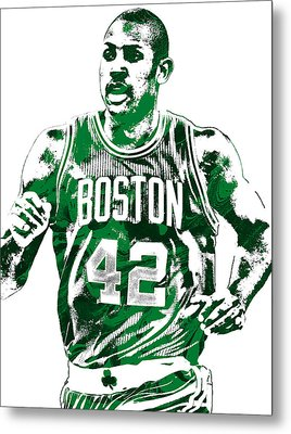 Al Horford Boston Celtics Pixel Art Metal Print