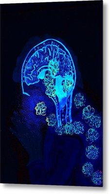 Al In The Mind Black Light View Metal Print by Lisa Brandel