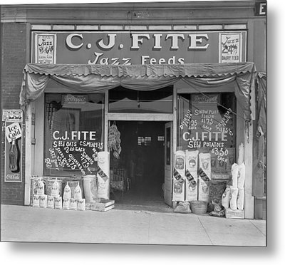 Alabama Feed Store Front, Sign Reads C Metal Print by Everett