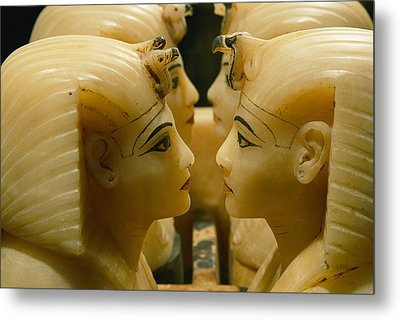 Alabaster Carvings Found In The Tomb Metal Print by Kenneth Garrett