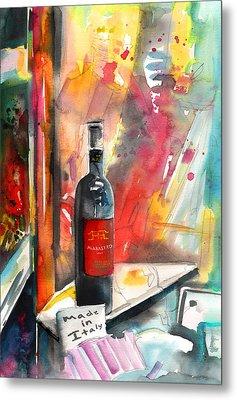 Alabastro Wine From Italy Metal Print by Miki De Goodaboom