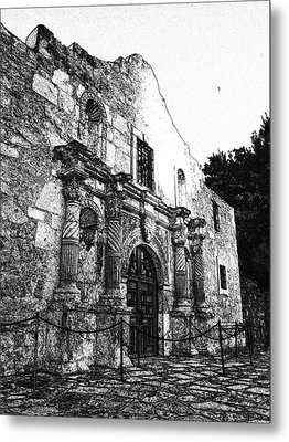 Alamo In Sunset Metal Print