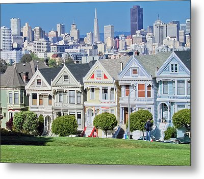 Metal Print featuring the photograph Alamo Square by Matthew Bamberg
