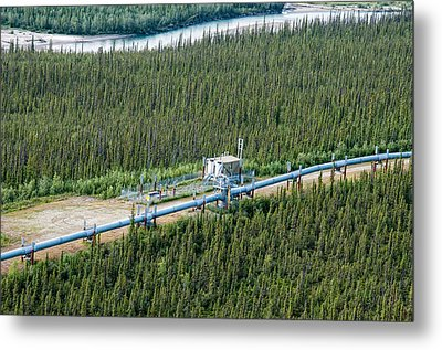 Alaska Pipeline - Koyukuk River Metal Print