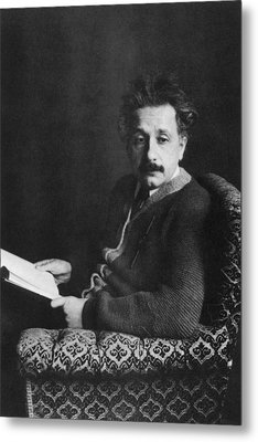 Albert Einstein 1879-1955, Photo Ca Metal Print by Everett