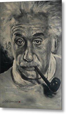 Albert Einstein Metal Print by Eddie Lim