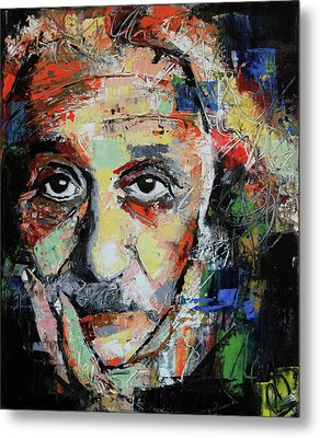 Albert Einstein Metal Print by Richard Day