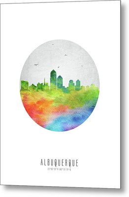 Albuquerque Skyline Usnmal20 Metal Print by Aged Pixel