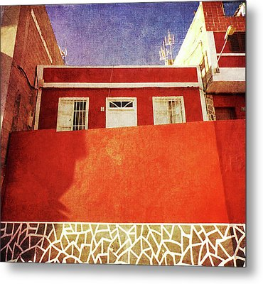Metal Print featuring the photograph Alcala Red House No2 by Anne Kotan