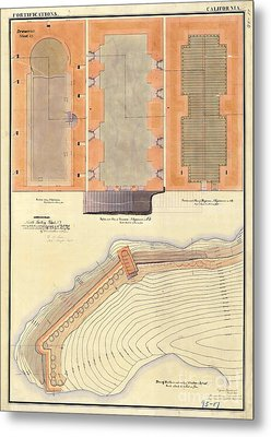 Alcatraz North Battery Drawing1856   Metal Print
