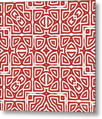 Alhambra Red Metal Print