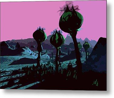 Alien Eden Metal Print