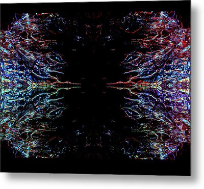 Alien Face Off Metal Print