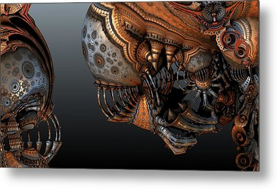 Alien In Your Face Metal Print