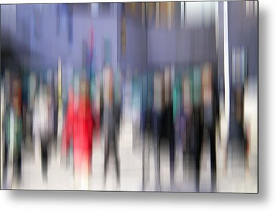 Alive In The City 3 - Going To The Train Metal Print