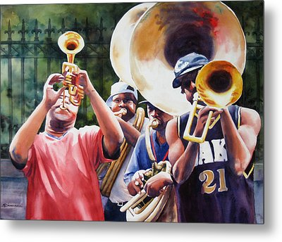All Brass Metal Print by Sue Zimmermann