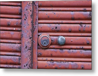 Metal Print featuring the photograph All Locked Up by Stephen Mitchell