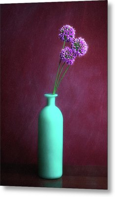 Allium Medusa Flower Metal Print