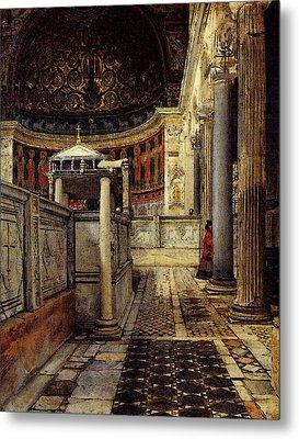 Alma Tadema Interior Of The Church Of San Clemente Rome Metal Print