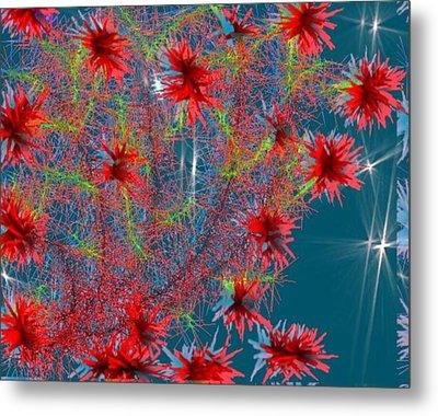 Metal Print featuring the digital art Almog-corall Tree by Dr Loifer Vladimir