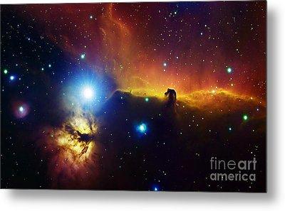 Alnitak Region In Orion Flame Nebula Metal Print