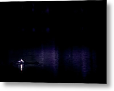 Metal Print featuring the photograph Alone In The Dark by Mark Andrew Thomas