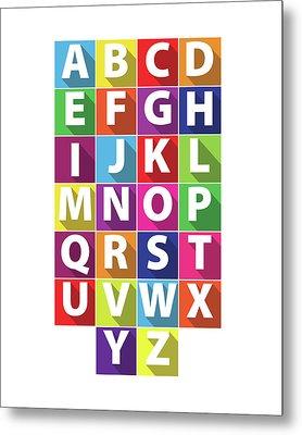 Alphabet Metal Print by Samuel Whitton