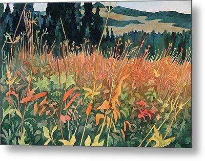 Alpine Autumn Metal Print by Anne Havard