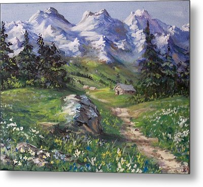 Alpine Splendor Metal Print
