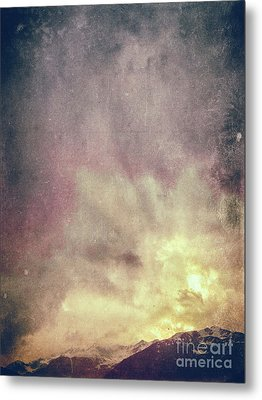 Metal Print featuring the photograph Alps With Dramatic Sky by Silvia Ganora