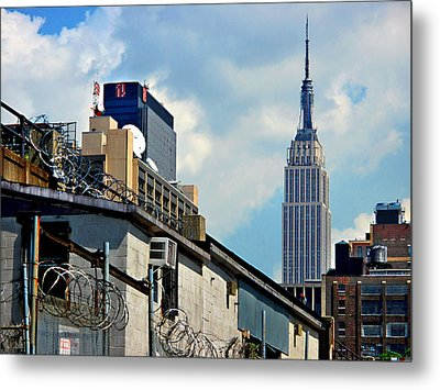 Alternative View Of Empire State Building Metal Print by JoAnn Lense