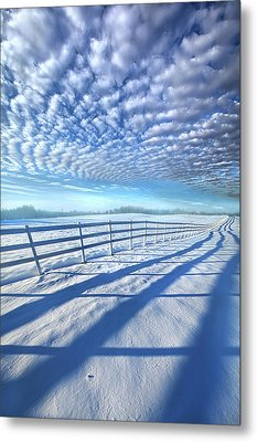 Metal Print featuring the photograph Always Whiter On The Other Side Of The Fence by Phil Koch