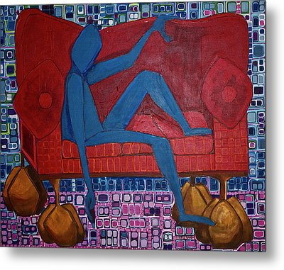 Am I Blue Metal Print by Donna Howard