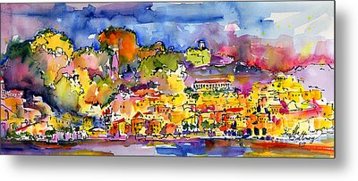 Amalfi Italy Coastline Travel Metal Print by Ginette Callaway