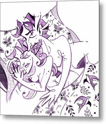 Amanti - Lovers Spring Feeling - Sweet Dreams Illustration Metal Print